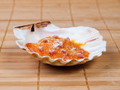 Baked scallop detail — Stock Photo