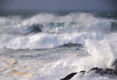 Storm in the Galician coast — Stock Photo