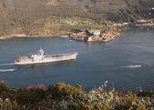 FERROL, SPAIN-FEBRUARY 08: Aircraft carrier Principe de Asturias — Stock Photo