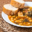 Potaje de Garbanzos y espinacas. Spanish cuisine. — Stock Photo #41020087