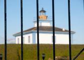 Isla Pancha lighthouse blurred — Stock Photo