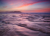 Colorful sunset on the beach — Stock Photo