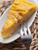Portion of Spanish omelette — Stock Photo