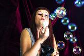 Såpbubblor — Stockfoto