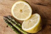 Asparagus and Lemon — Stock Photo