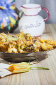 Zucchini flowers stuffed — Stock Photo