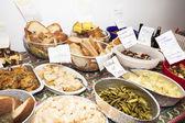 Många typer av mat — Stockfoto