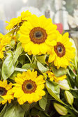 Flowers at the market — Stock Photo