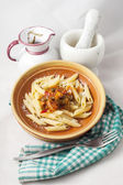 Pasta with peppers — Stock Photo