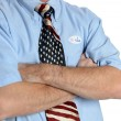 Determined Patriot Voter — Stock Photo
