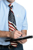 Patriot Voter Takes a Poll — Stock Photo