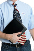 Blue Jeans Business Patriot Voter — Stock Photo