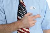 Hopeful Patriot Voter — Stock Photo