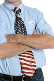 Determined Patriot Voter — Stock Photo