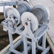 Stock Photo: Boat lift cable