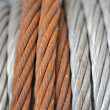Stock Photo: Rusty cable