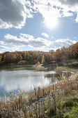 Fall Colors Lake — Stock Photo