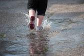 Splashing shoes — Stock Photo