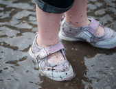 Puddle shoes — Stock Photo