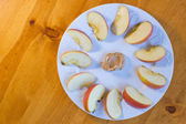 Apples and Peanut Butter — Stock Photo