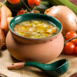 Minestrone - Italian vegetable soup - ストック写真