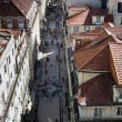 Aerial view of Rua Augusta - Lisbon (Portugal) — Stock Photo