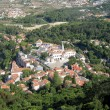 Aerial view of the Palacio Nacional de Sintra (Portugal) — Stock Photo