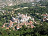 Aerial view of the Palacio Nacional de Sintra (Portugal) — Stock Photo