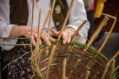 The basket-maker — Stock Photo