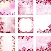 Pink floral vintage leaves and flowers backgrounds — Stock Photo