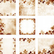 Floral vintage with old paper background — Stock Photo #22550995