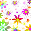 Foto Stock: Floral 70's background