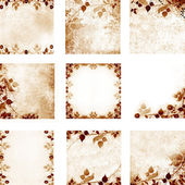 Floral vintage with old paper background — 图库照片