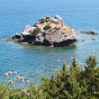 Aphrodite's rock and beach in Cyprus, called Petra tou Romiou - Stock Photo