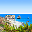Aphrodite's rock and beach in Cyprus, called Petrtou Romiou — Stock Photo #23556447
