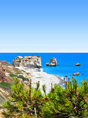 Aphrodite's rock and beach in Cyprus, called Petra tou Romiou — Stock Photo