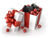Camera for Christmas — Stock Photo