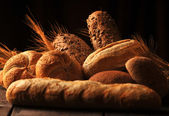 Bread and rolls — Stock Photo
