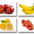 Fruits collage — Stock Photo