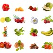 Fruits and vegetables collage — Stock Photo