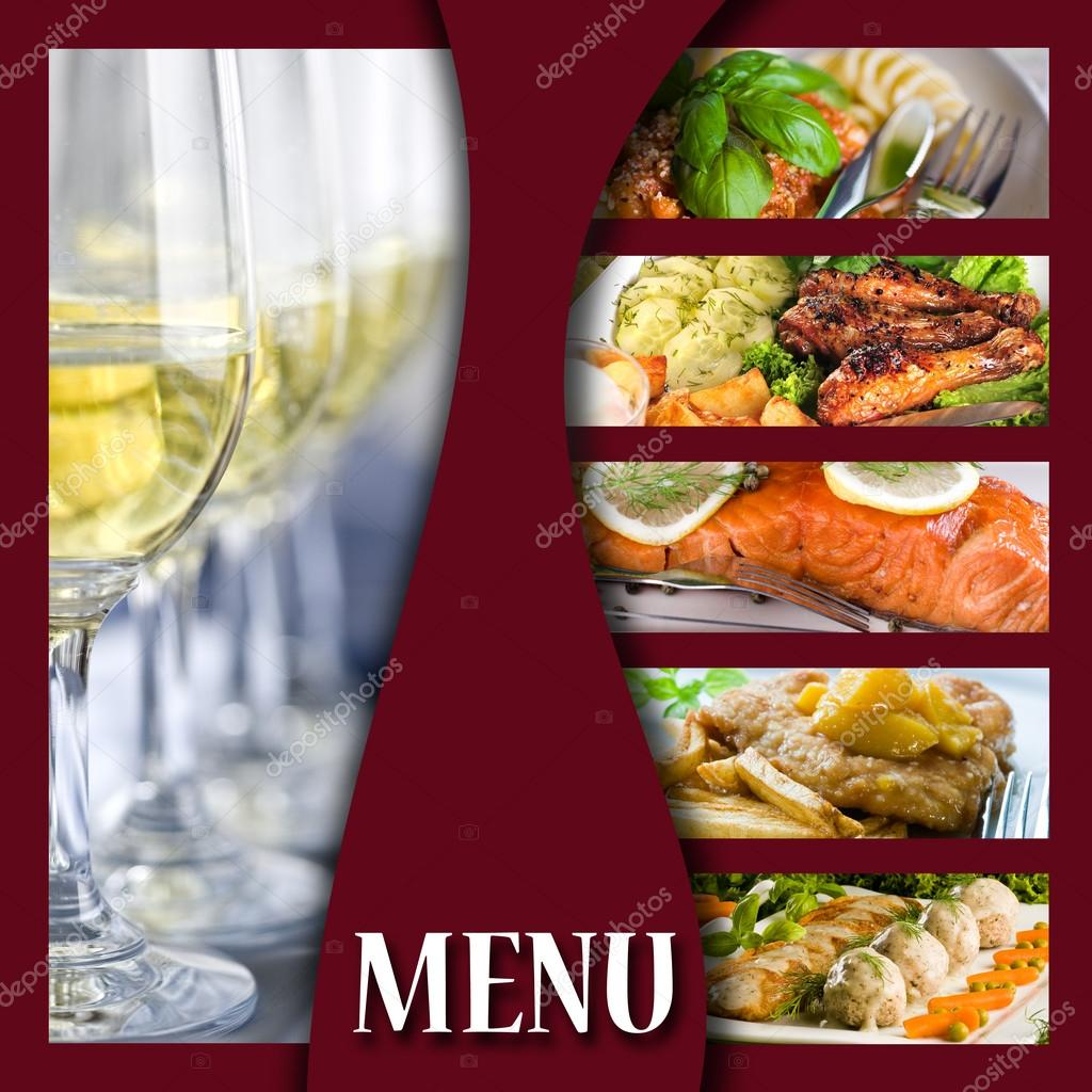 Menu cover page — Stock Photo © Kaminska #14833841