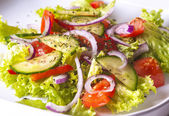 Mixed salad on the plate — Stock Photo