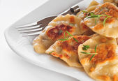 Christmas dumplings - Polish traditional food — Stock Photo