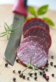 薄切り肉サラミ ソーセージ — ストック写真
