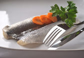 Fresh herring fillet — Stock Photo
