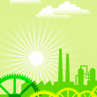 Eco industry — Vector de stock #12087292
