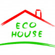 Stock Vector: Eco house