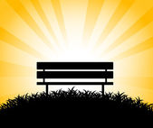 Silhouette of bench — Stock Vector