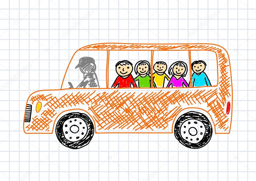 School Bus Images For Drawing Drawing of School Bus on