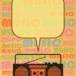 Royalty-Free Stock Vector Image: Radio cassette player
